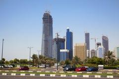 阿布扎比地平线阿拉伯联合酋长国 库存图片