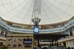 阿布扎比小游艇船坞购物中心在阿拉伯联合酋长国 免版税图库摄影