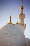 阿布扎比扎耶德Mosque,阿拉伯联合酋长国回教族长 免版税库存照片