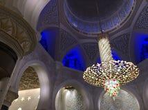 阿布扎比扎耶德Mosque,阿联酋回教族长 免版税库存照片
