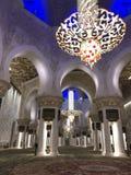 阿布扎比扎耶德Mosque,阿联酋回教族长 库存图片