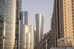 阿布扎比摩天大楼 免版税库存照片