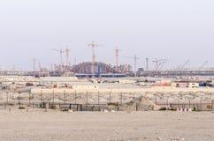 阿布扎比新的机场终端 免版税库存图片