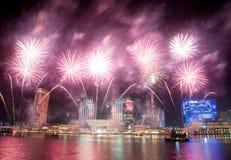 阿布扎比新年 免版税库存照片