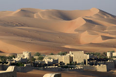 阿布扎比沙漠 免版税库存照片