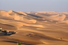 阿布扎比沙漠 图库摄影