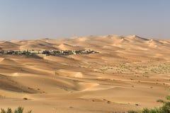 阿布扎比沙漠 免版税库存图片
