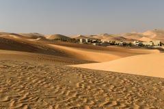 阿布扎比沙漠 免版税图库摄影