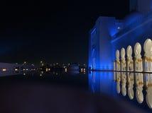 阿布扎比清真寺回教族长zayed 免版税库存照片