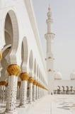 阿布扎比清真寺回教族长zayed 库存照片