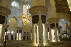 阿布扎比清真寺回教族长zayed 库存图片