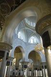 阿布扎比清真寺回教族长zayed 免版税库存图片