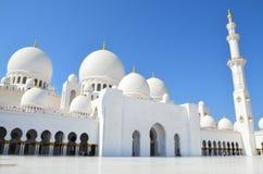阿布扎比清真寺阿拉伯联合酋长国回教族长zayed 库存图片
