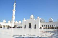 阿布扎比清真寺阿拉伯联合酋长国回&# 库存图片