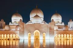 阿布扎比清真寺 免版税库存图片