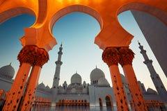阿布扎比清真寺 免版税图库摄影