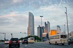阿布扎比阿拉伯联合酋长国的首都 图库摄影