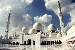 阿布扎比,阿联酋回教族长扎耶德Mosque - 免版税库存图片