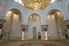 阿布扎比,阿联酋, 2018年1月04日:内部Th 库存图片