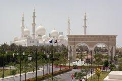 阿布扎比Zayed White Mosque回教族长 免版税库存图片