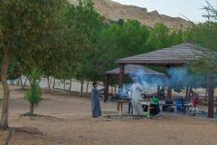 阿布格莱布dabi,阿联酋, 15 11 2015人和自然 S 免版税库存图片