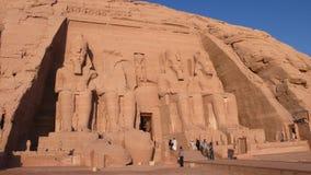 阿布格莱布Simbel。埃及 图库摄影