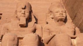 阿布格莱布Simbel。埃及 库存照片