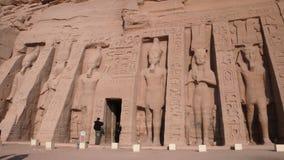阿布格莱布Simbel。埃及 库存图片