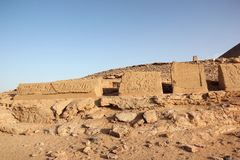 阿布格莱布Simbel在努比亚的心脏 埃及 免版税图库摄影