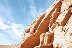 阿布格莱布Simbel,埃及埃及寺庙  免版税库存照片