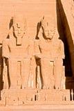 阿布格莱布Simbel -埃及的伟大的寺庙 免版税库存照片