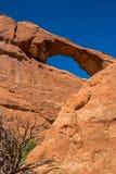 默阿布沙漠的美丽如画的本质 石峭壁和自然曲拱 免版税库存图片