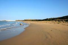 阿布鲁佐海滩意大利penna punta vasto 免版税库存照片