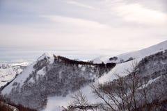 阿布鲁佐的高山用雪0014填装了 免版税库存照片