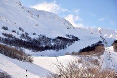 阿布鲁佐的高山用雪008填装了 免版税图库摄影