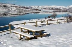 阿布鲁佐campotosto意大利湖 免版税库存图片