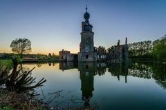 阿弗尔, Moins,比利时城堡  库存照片