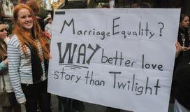 阿德莱德婚姻平等 免版税库存图片