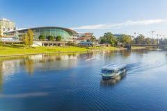 阿德莱德市在白天期间的澳大利亚 免版税图库摄影