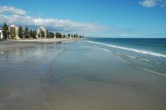 阿德莱德澳洲南海滩的海岸 免版税库存照片