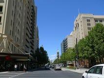 阿德莱德- 12月5 :交通在城市的中心。20 12月5日, 图库摄影