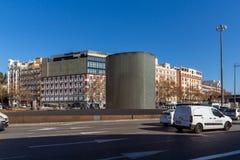 阿托查纪念碑马德里3月11日纪念品在市马德里,西班牙 免版税库存图片