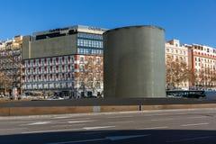 阿托查纪念碑马德里3月11日纪念品在市马德里,西班牙 库存图片