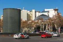 阿托查纪念碑马德里3月11日纪念品在市马德里,西班牙 免版税库存照片