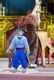 阿拉丁灵魔和大象 免版税图库摄影