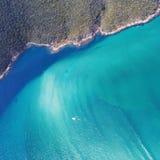 阿拉亚尔多卡博海滩,里约热内卢,巴西鸟瞰图  库存照片