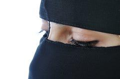 阿拉伯亚裔回教妇女 库存图片
