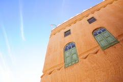 阿拉伯人传统房子  免版税库存照片