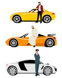 阿拉伯人和昂贵的汽车 免版税库存图片