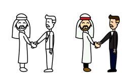 阿拉伯人和humen企业传染媒介 库存图片